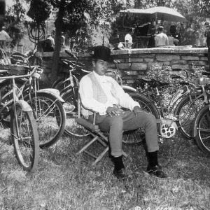 Ray Milland has many bikes to ride.