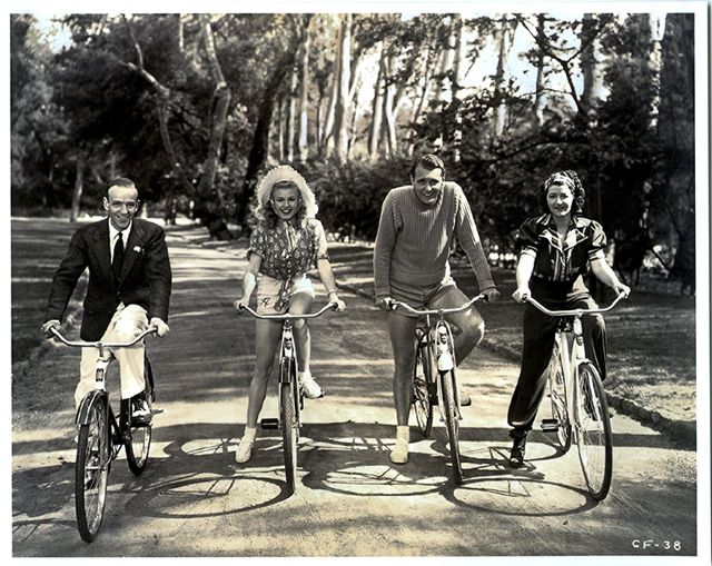 Fred Astaire, Ginger Rogers, Ralph Bellamy and Luella Gear