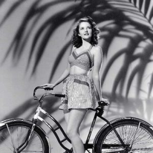 Martha Vickers contemplates riding a bike.