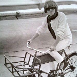 Brian Jones rides a bike.