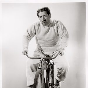 Harold Peary rides a bike. Sadly.