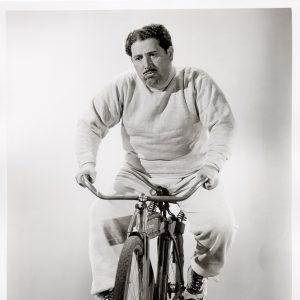 Harold Peary rides a bike. Sadly.