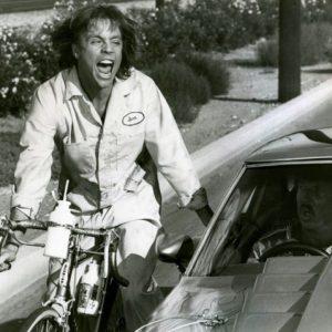 Mark Hamill rides a bike. Ragefully.