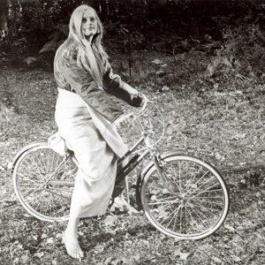 Alexandra Hay rides a bike.