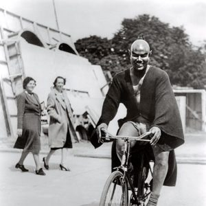 Rex Ingram rides a bike.