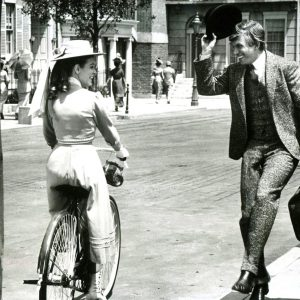 "Uncredited Disney actress rides a bike. Tommy Steele tips his hat – and sings ""Fortuosity."""