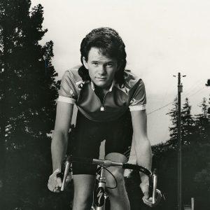 Neil Patrick Harris rides a bike. On his way to the Tonys.