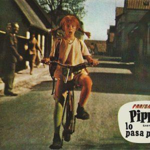 Inger Nilsson rides a bike.