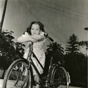 Gigi Perreau considers a bike.