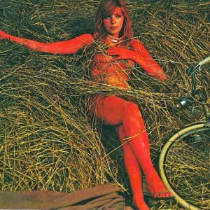 Rita Calderoni haystacks a bike.