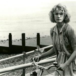 Emily Lloyd rides a bike, wishes you were here.