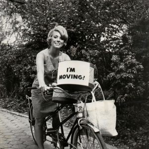 Inger Stevens rides a bike, movingly.