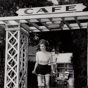 Peggy Dow rides a bike.