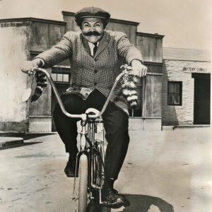 Avery Schreiber rides a bike.