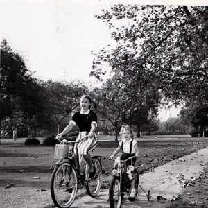 Mona Freeman and daughter Monie Freeman ride bikes. Happy Mother's Day from Rides a Bike!