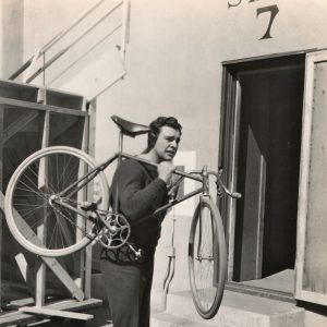A bike rides Lon Chaney Jr.