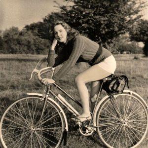 Valerie Carton rides a bike.