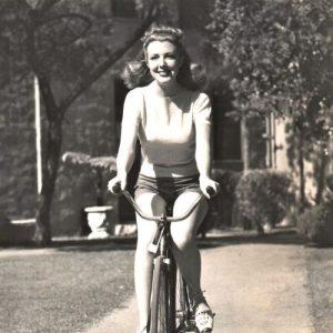 Virginia Vale rides a bike.