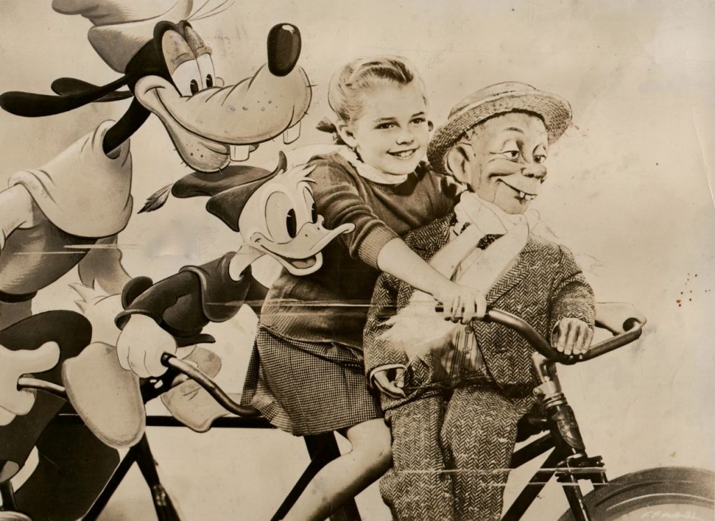 Goofy Donald Duck Luana Patten And Mortimer Snerd Ride A Bike Happy Thanksgiving From Rides Our 6th Anniversary Today