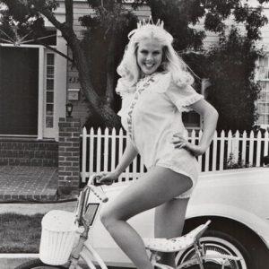 Teri Landrum rides a bike.