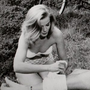 Leslie Parrish dresses Laurence Harvey's wound. Bicycle awaits.
