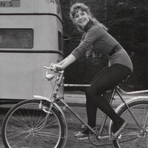 Ina Bauer rides a bike.