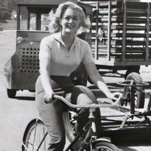 Jan Sterling rides a bike.
