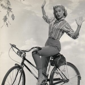 Sandy Wirth rides a bike.
