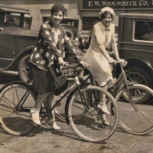 Ethel and Marge Kerwin ride bikes — in Omaha.