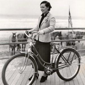 Gladys Swarthout opens Atlantic City bike lane.