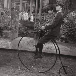 Lynne Overman rides a bike.
