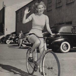 Pat Clark rides a bike.