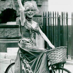 Carol Channing rides a bike. R.I.P.
