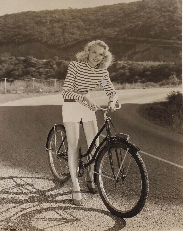 Martha Tilton Rides A Bike