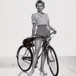 Deborah Kerr gets ready to ride.