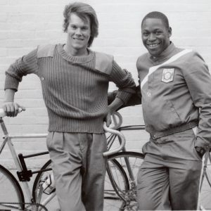 Kevin Bacon and Nelson Vails and bikes.