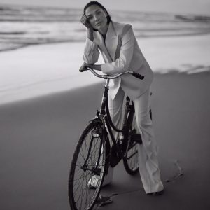 Gal Gadot wonders, on a bike.