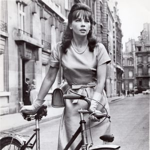 Leslie Caron and a bike.