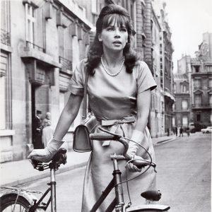 Leslie Caron and a bike.